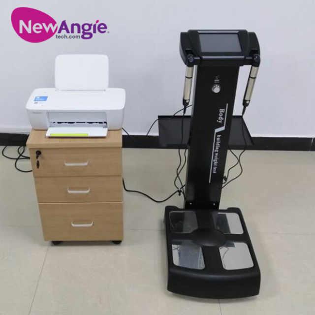 New Design Commercial Body Fat Analyzer Electronic Height Weight Bmi Machine with Printer