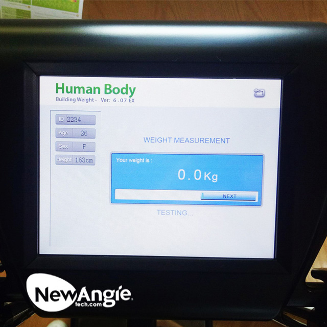 Body composition machine for hospital