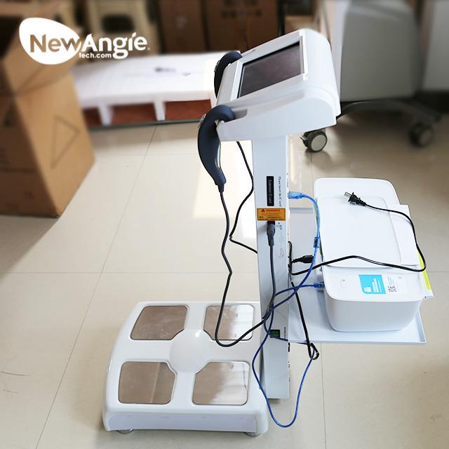 2019 Low Price Professional Analysis BMI Impedance Segmental Body Fat Analyzer with Printer